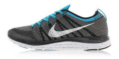 Nike Flyknit Lunar 1 Men Grey Blue For Sale