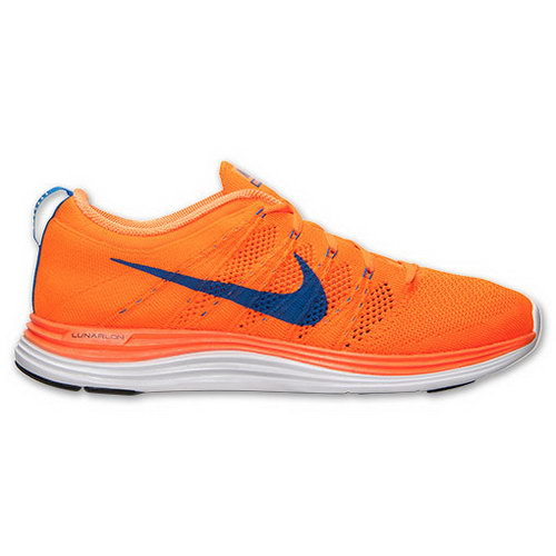 Nike Flyknit Lunar 1 Men Yellow Blue Outlet Store