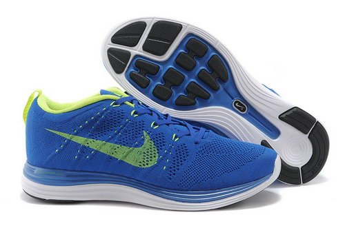 Nike Flyknit Lunar 1 Mens Blue Green Usa
