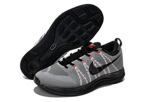 Nike Flyknit Lunar 1 Mens Grey Black Clearance