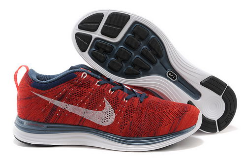 Nike Flyknit Lunar 1 Mens Red Black Korea