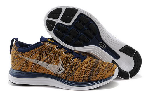 Nike Flyknit Lunar 1 Mens Yellow Black Closeout