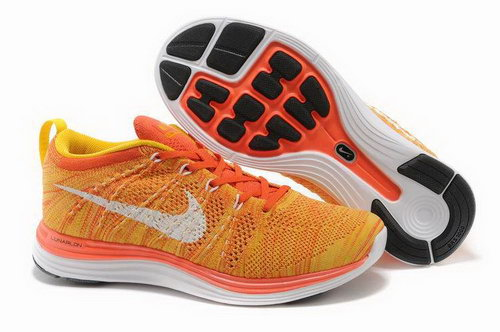 Nike Flyknit Lunar 1 Mens Yellow Orange Czech