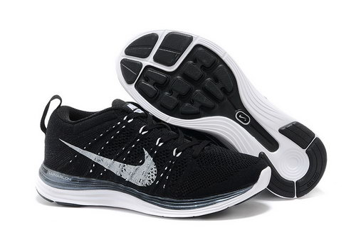Nike Flyknit Lunar 1 Women Black White Netherlands