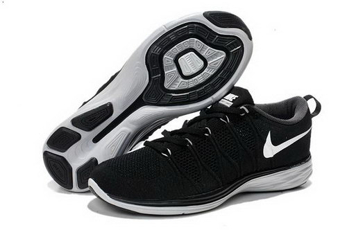 Nike Flyknit Lunar Ii 2 Mens Running Shoes Black All White New Hot Discount Code