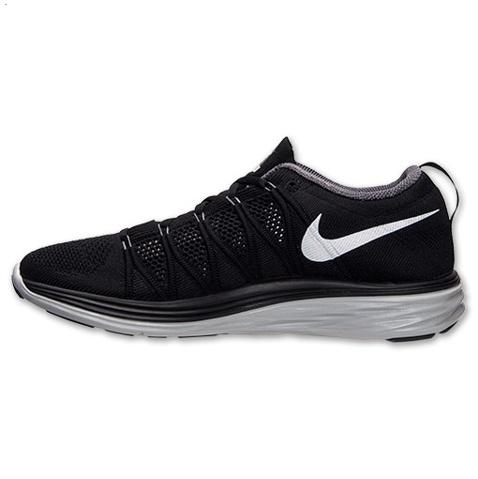Nike Flyknit Lunar Ii 2 Mens Running Shoes Black White Outlet