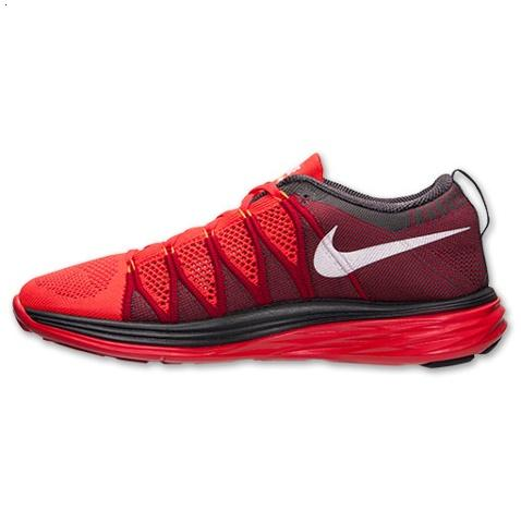 Nike Flyknit Lunar Ii 2 Mens Running Shoes Red White Factory Store