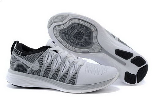 Nike Flyknit Lunar Ii 2 Mens Shoes Light Gray White Greece