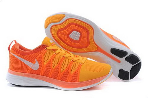Nike Flyknit Lunar Ii 2 Mens Shoes Orange Mago White Hong Kong