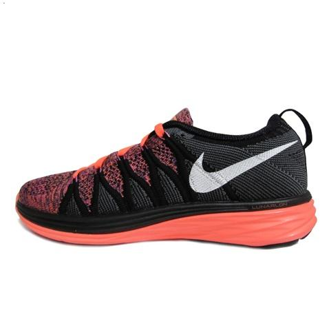 Nike Flyknit Lunar Ii 2 Womens Running Shoes Black Orange New Germany