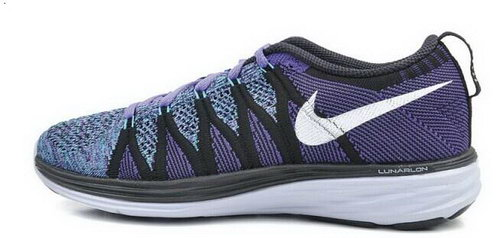 Nike Flyknit Lunar Ii 2 Womens Running Shoes Blue Purple Silver New New Zealand