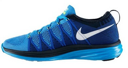 Nike Flyknit Lunar Ii 2 Womens Running Shoes Blue White Factory