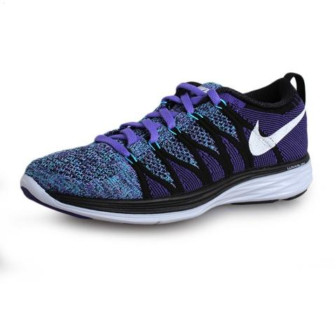 Nike Flyknit Lunar Ii 2 Womens Running Shoes Dark Blue White New Low Price