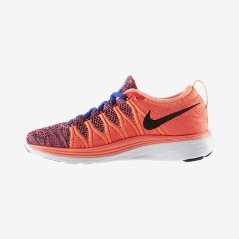 Nike Flyknit Lunar Ii 2 Womens Running Shoes Orange Black New Coupon