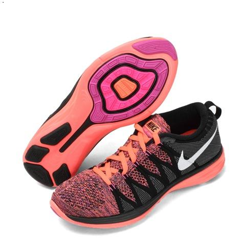 Nike Flyknit Lunar Ii 2 Womens Running Shoes Orange Black Red New Sweden