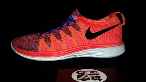 Nike Flyknit Lunar Ii 2 Womens Running Shoes Orange Black Red Canada