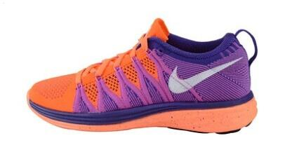 Nike Flyknit Lunar Ii 2 Womens Running Shoes Purple Orange Silver Poland