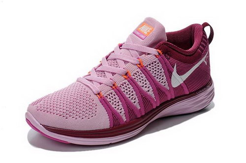 Nike Flyknit Lunar Ii 2 Womens Running Shoes Rose Red White New 0l Wholesale