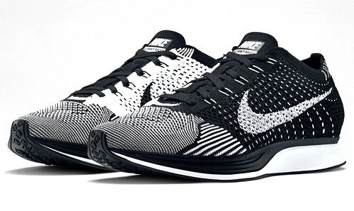 Nike Flyknit Racer Mens & Womens (unisex) Black White Wholesale