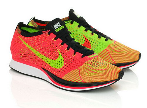 Nike Flyknit Racer Mens & Womens (unisex) Hyper Punch Black Electric Green For Sale