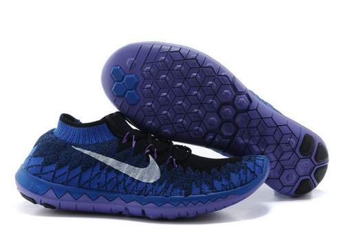 Nike Free 3.0 Flyknit Men Blue Black Discount