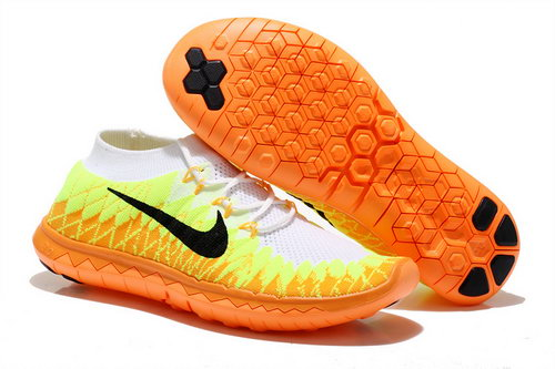 Nike Free 3.0 Flyknit Men Orange White