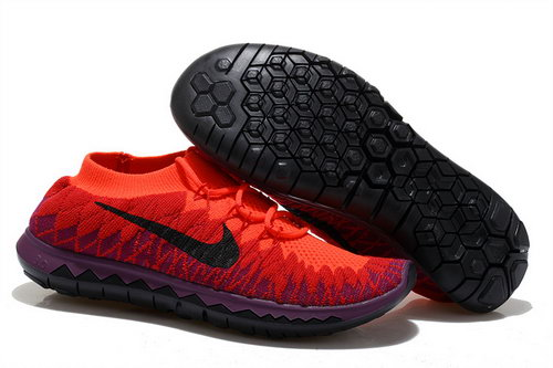 Nike Free 3.0 Flyknit Womens Red Purple Black Greece