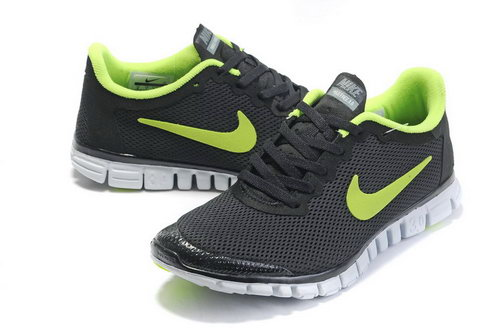 Nike Free 3.0 Mens Black Green Outlet Online