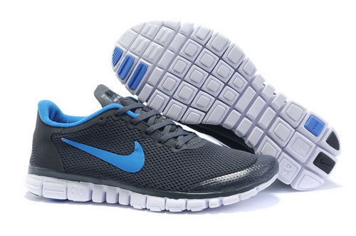 Nike Free 3.0 Mens Dark Grey Blue Reduced