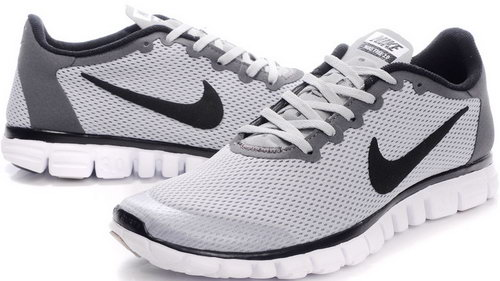 Nike Free 3.0 Mens Grey White Black France