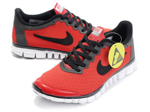 Nike Free 3.0 Mens Red Black Online Shop