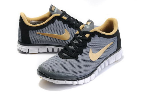Nike Free 3.0 Mens Size Us7.5 9 10.5 11.5 Grey Gold Germany