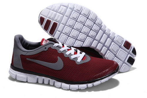 Nike Free 3.0 Mens Wine Red Grey Factory Outlet