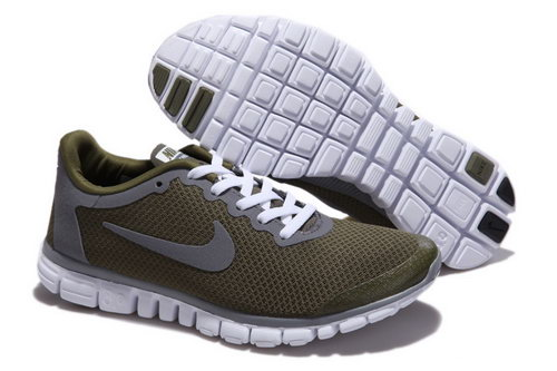 Nike Free 3.0 Mens Army Green Grey