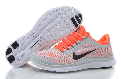 Nike Free 3.0 V5 Womens Grey Orange Uk
