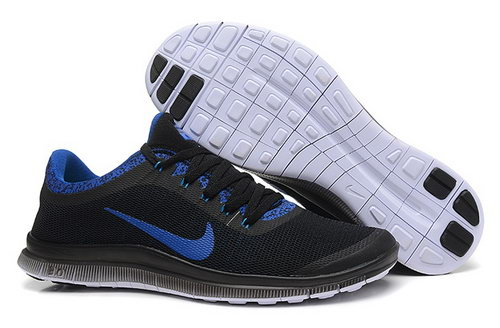 Nike Free 3.0 V6 Ext Mens Shoes Black Ocean Blue Outlet Online