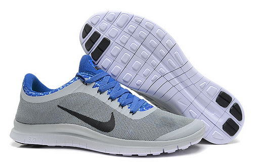 Nike Free 3.0 V6 Ext Mens Shoes Gray Blue Black On Sale