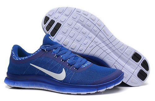 Nike Free 3.0 V6 Ext Mens Shoes Ocean Blue White Reduced
