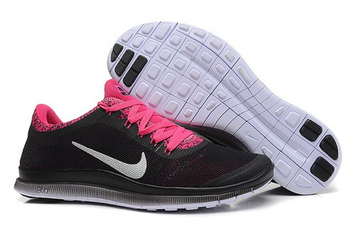 Nike Free 3.0 V6 Ext Womens Shoes Black Pink Gray Coupon