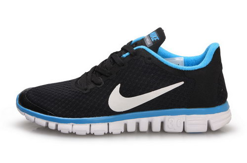 Nike Free 3.0 Womens & Mens (unisex) Black Blue Inexpensive