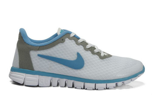 Nike Free 3.0 Womens & Mens (unisex) White Blue Coupon