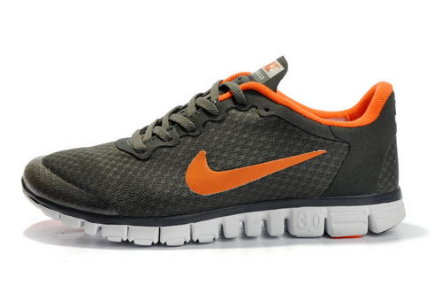 Nike Free 3.0 Womens Size Us9 9.5 10 Dark Grey Orange Portugal