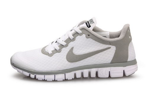 Nike Free 3.0 Womens White Grey Clearance