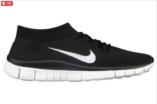 Nike Free 5.0 Flyknit Women Black White Outlet
