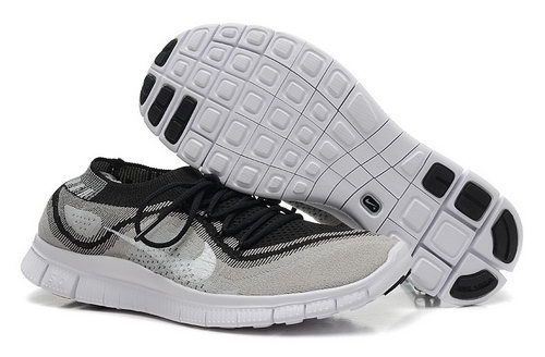 Nike Free 5.0 Flyknit Women Grey Black Outlet Online