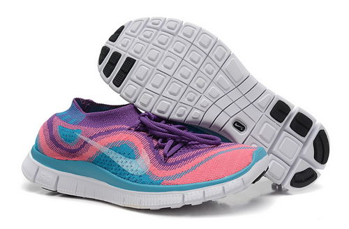 Nike Free 5.0 Flyknit Women Purple Pink Jade China