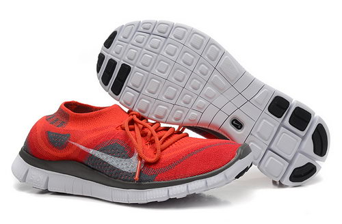 Nike Free 5.0 Flyknit Women Red Grey Ireland