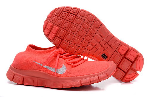 Nike Free 5.0 Flyknit Women Red On Sale
