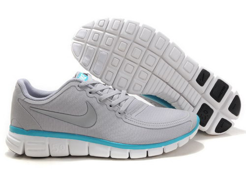 Nike Free 5.0 Mens Grey Blue Promo Code