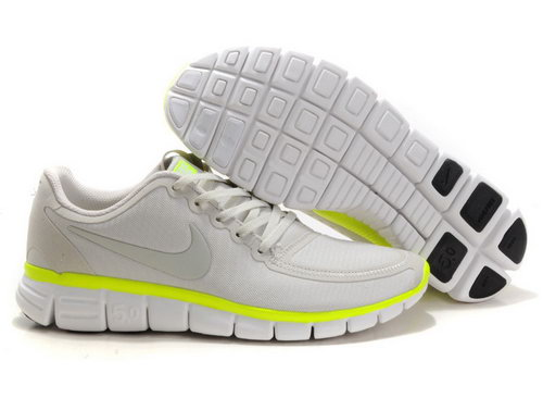 Nike Free 5.0 Mens Grey Fluorescent Yellow Australia